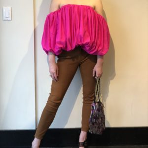 Acler Franklin Top, Neon Pink