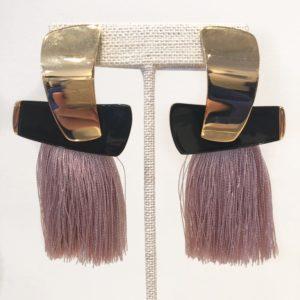 Lizzie Fortunato Totem Tassel Earrings, Blush