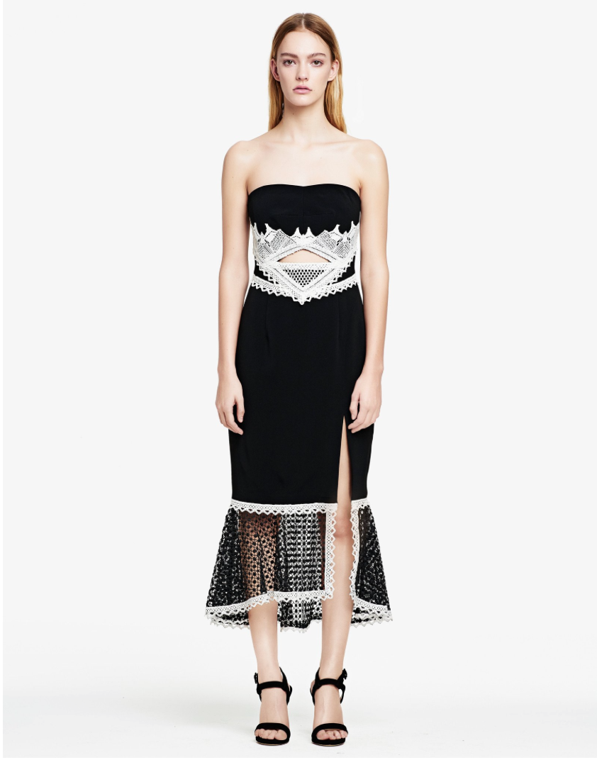 Soiree Black and White Dress