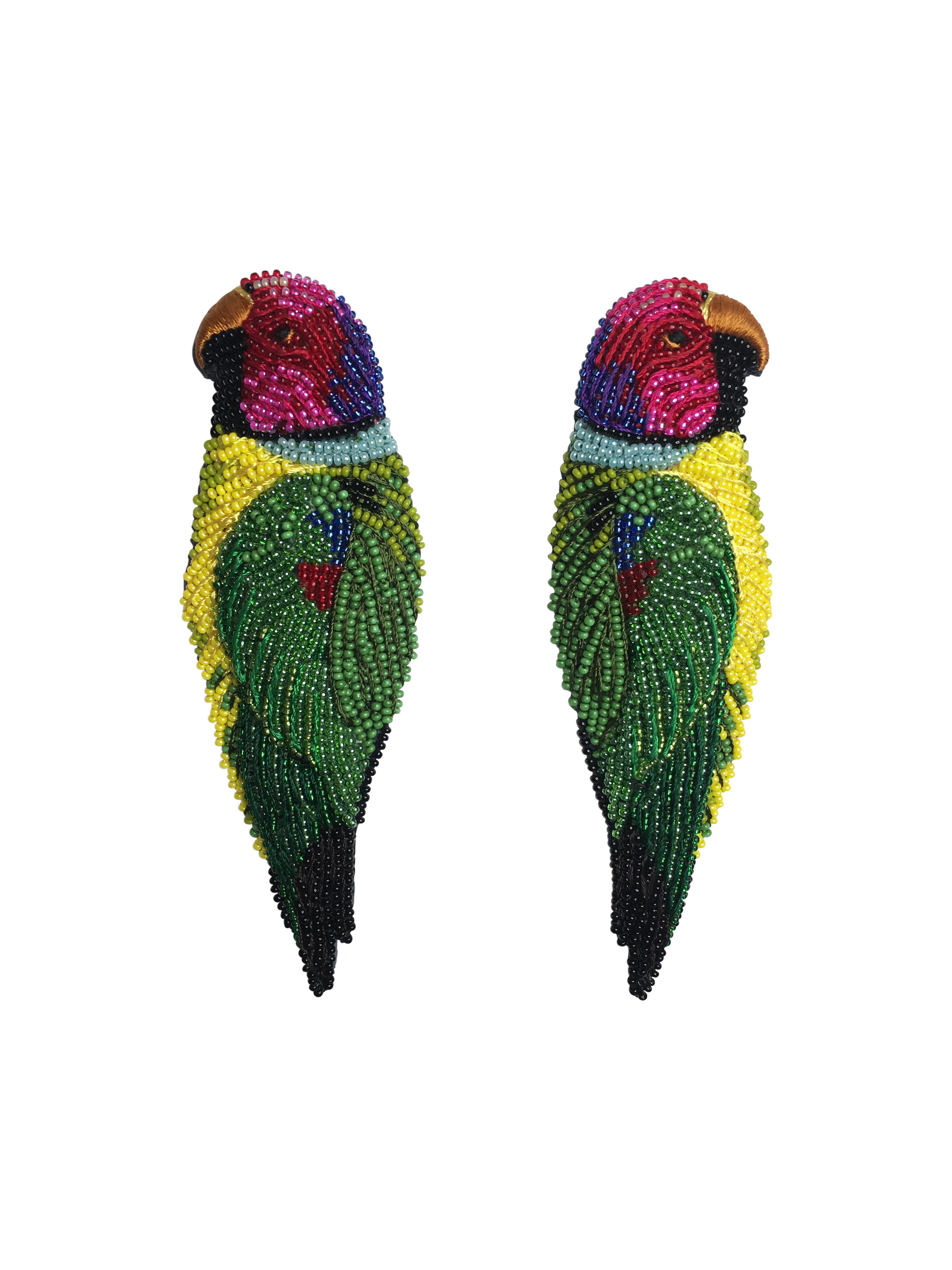 Mignonne Gavigan Parrot Post Earrings ROOPSA