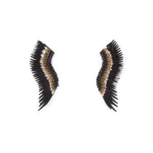 Mignonne Gavigan Layne Beaded Madeline Earrings, Black or Gold