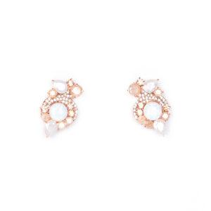Mignonne Gavigan Gabby Metallic Earrings, Rose