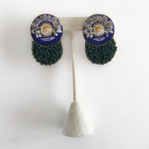 Mignonne Gavigan Caviar Earrings, Navy