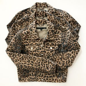Veronica Beard Cara Jean Jacket, Leopard