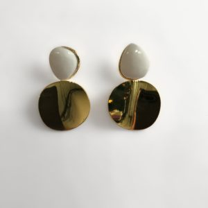 Lizzie Fortunato Painted Disco Earring, Gold
