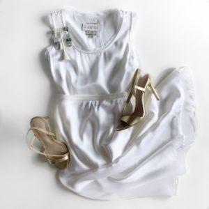 Go Silk Go Luxe Bias Skirt, White