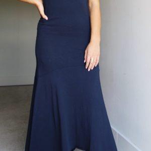 Frame Cascade Tee Dress, Navy