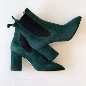 Paris Texas Suede Ankle Boots, Green