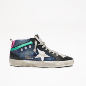 PREORDER Golden Goose Sneakers Midstar, Blue Denim/White Star