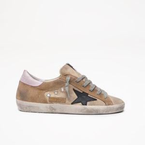 PREORDER Golden Goose Sneakers Superstar, Sand Canvas/Black Star