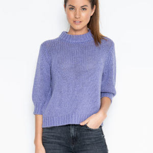 One Grey Day Milly 3/4 Pullover, Iris