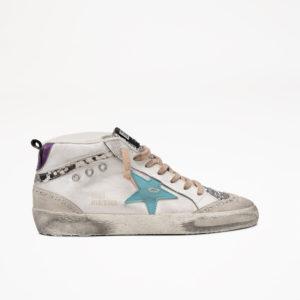 PREORDER Golden Goose Sneakers Midstar, Silver Glitter/Mavi Blue Star