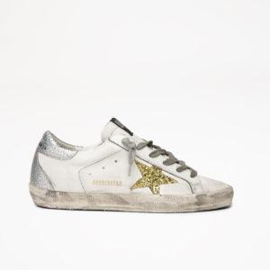 PREORDER Golden Goose Sneakers Superstar, White/Gold Glitter Star/Silver Back