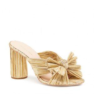 Loeffler Randall Penny Knot Mule, Gold