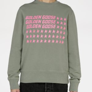 PREORDER Golden Goose Athena Crewneck, Golden Flag