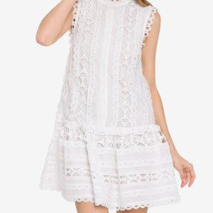 Endless Rose Lace Mini Dress, White