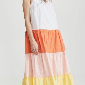 English Factory Sleeveless Maxi Dress, Multi