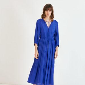 Suncoo Robe Cade Dress, Royal Blue
