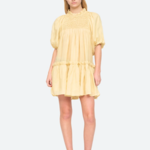SEA Geneva Lantern Sleeve Midi Dress, Macaron