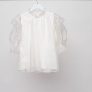 SEA Nuria Organza T-Shirt, White